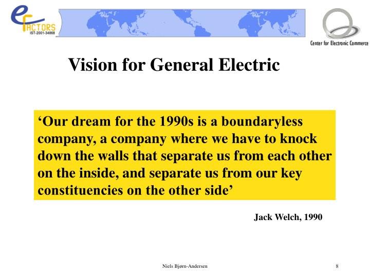 Vision for General Electric