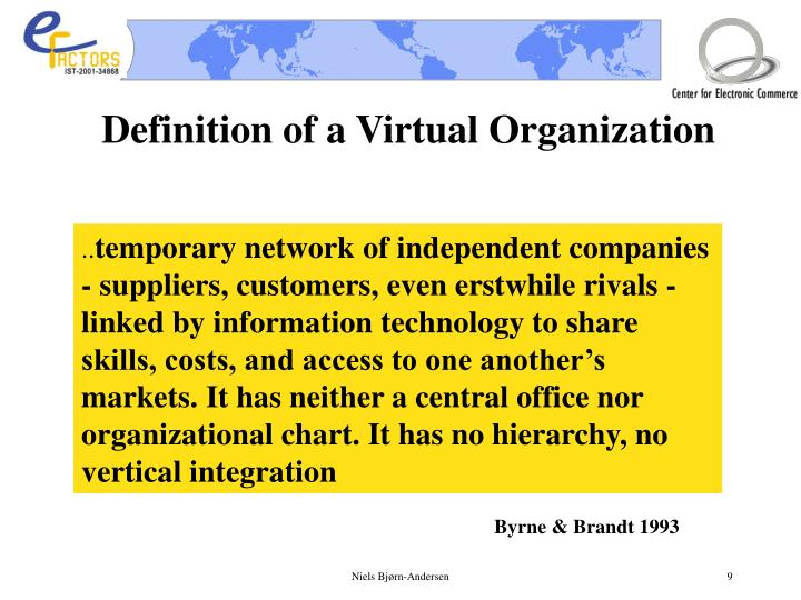 Definition of a Virtual Organization
