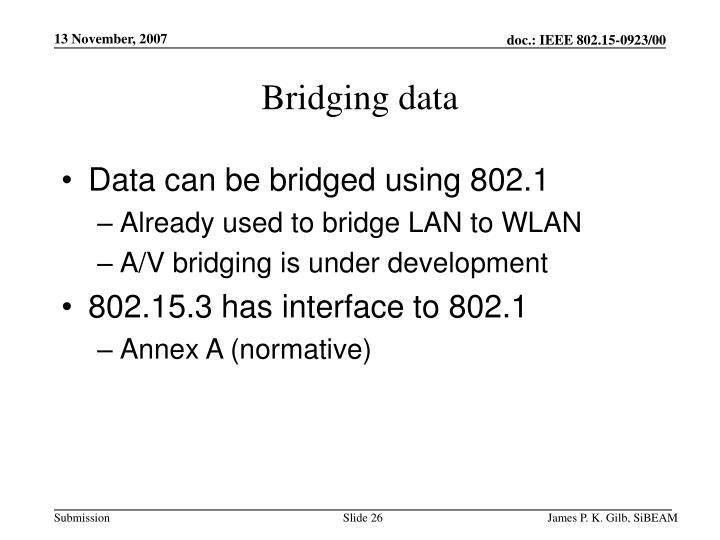 Bridging data