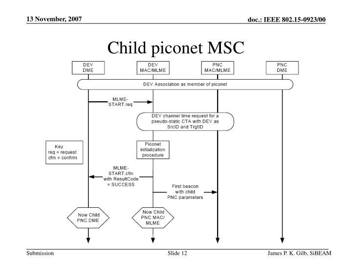 Child piconet MSC