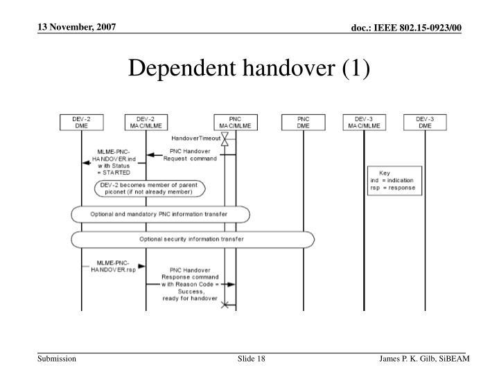 Dependent handover (1)