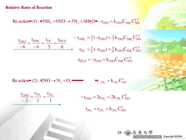 Relative Rates of Reaction