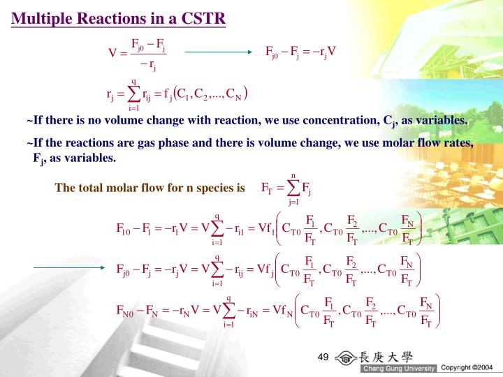 Multiple Reactions in a CSTR