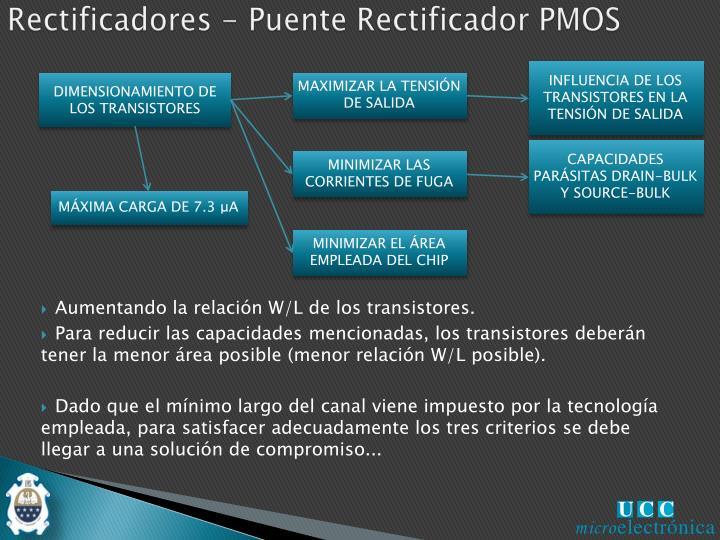 Rectificadores - Puente Rectificador PMOS