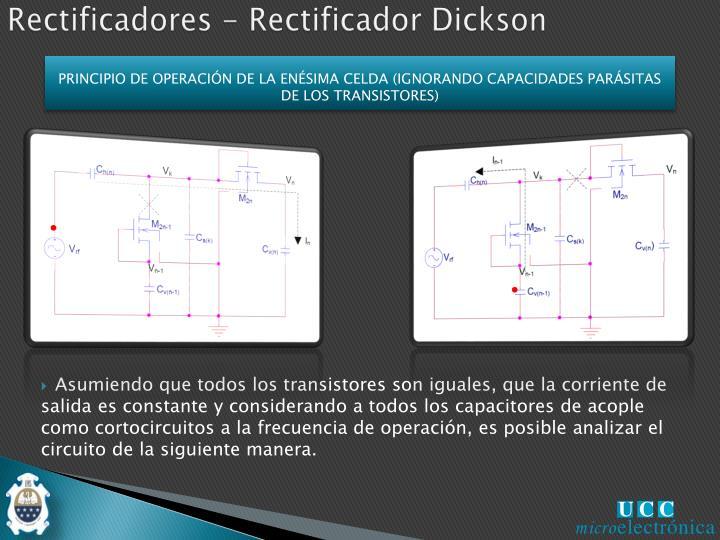 PRINCIPIO DE OPERACIÓN DE LA ENÉSIMA CELDA (IGNORANDO CAPACIDADES PARÁSITAS