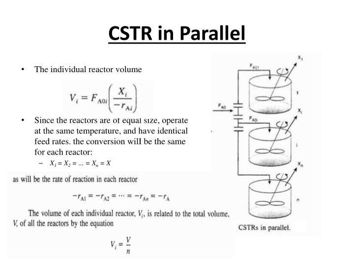 CSTR in Parallel