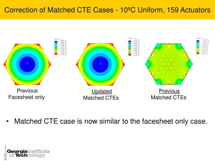 Correction of Matched CTE Cases -