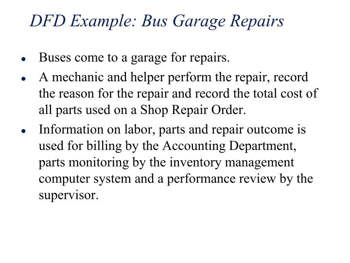 DFD Example: Bus Garage Repairs