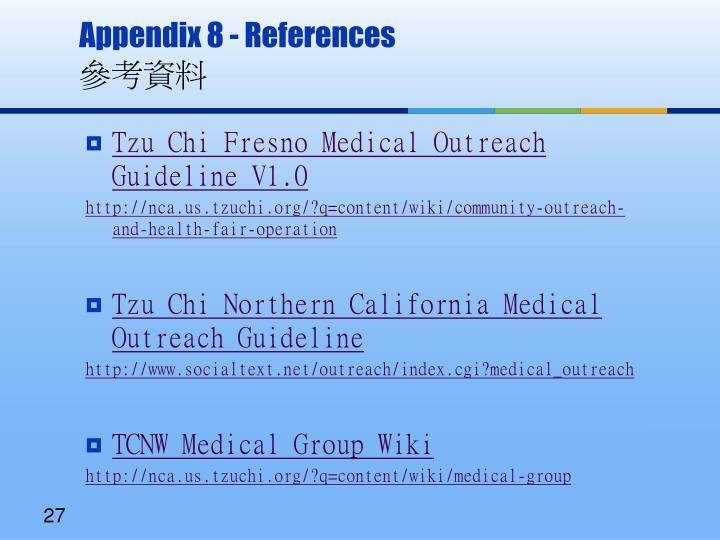 Appendix 8 - References