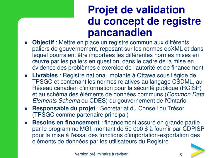 Projet de validation