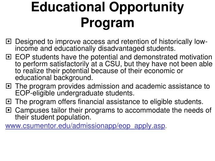 Educational Opportunity Program