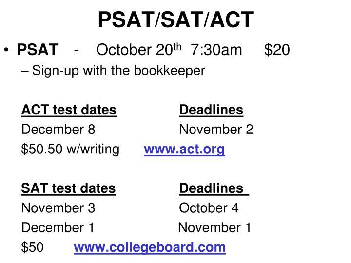 PSAT/SAT/ACT