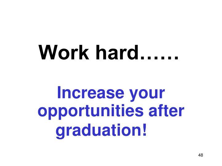 Work hard……