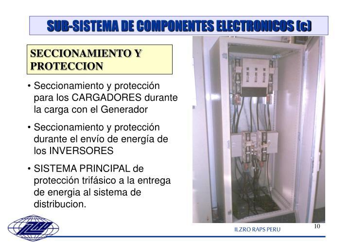 SUB-SISTEMA DE COMPONENTES ELECTRONICOS (c)