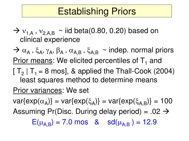 Establishing Priors