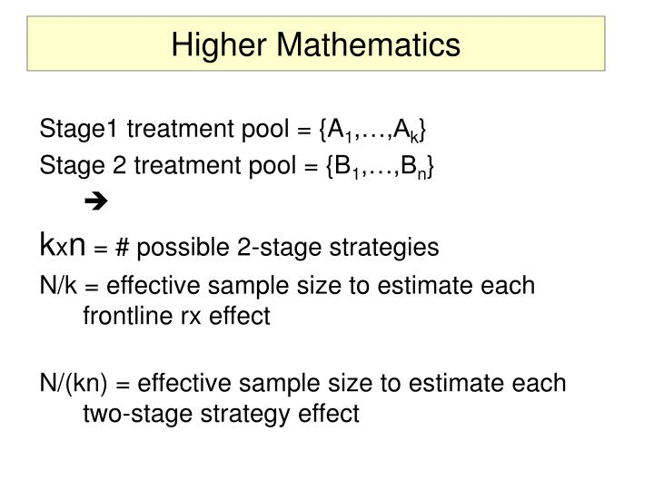 Higher Mathematics