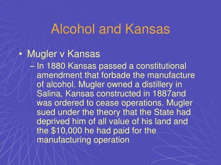 Alcohol and Kansas