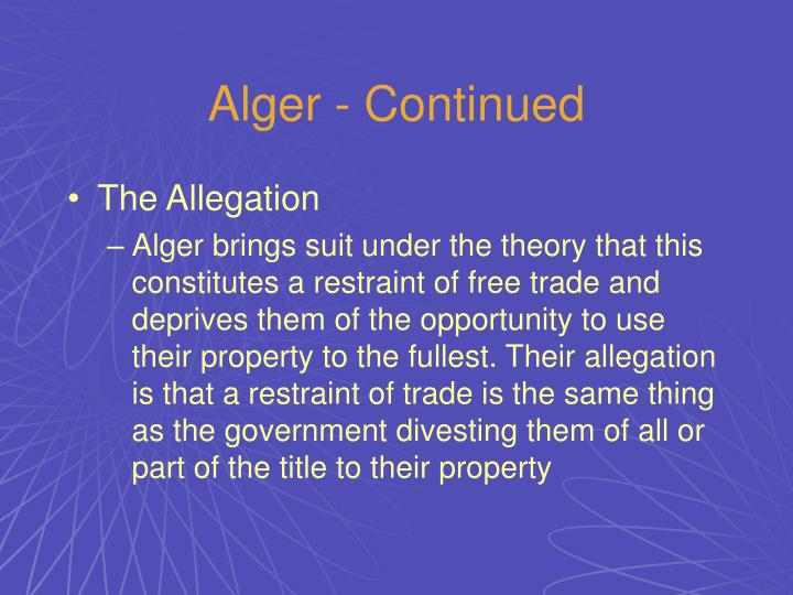 Alger - Continued