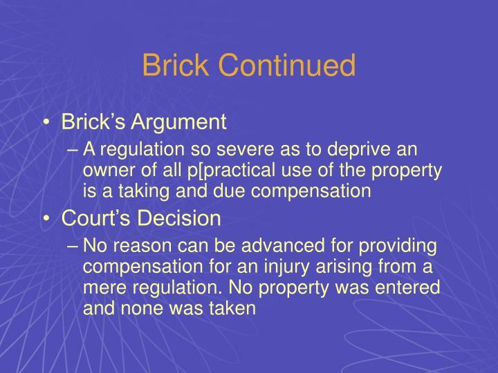 Brick Continued