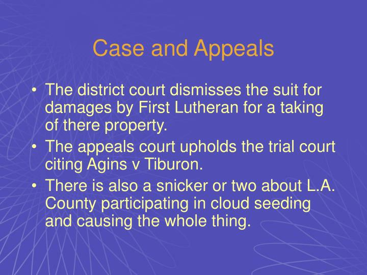 Case and Appeals