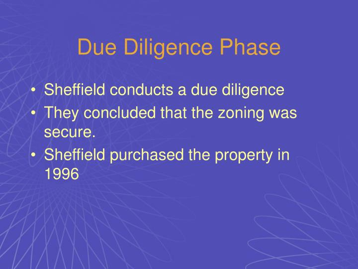 Due Diligence Phase