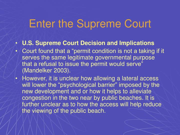 Enter the Supreme Court