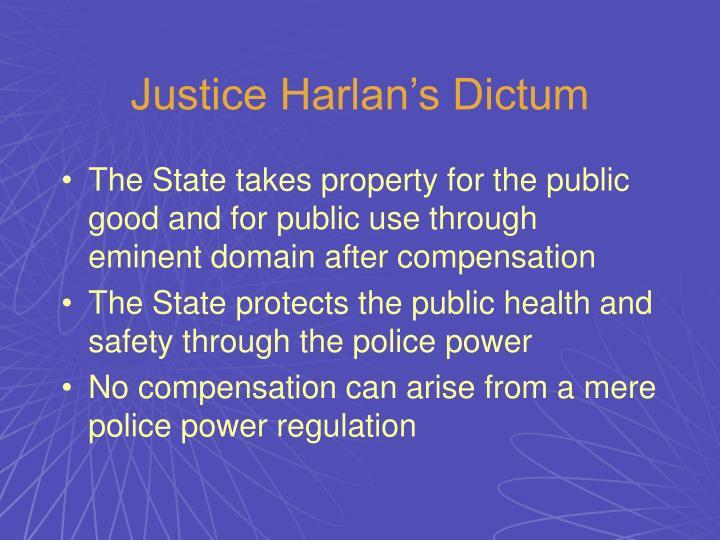 Justice Harlan's Dictum