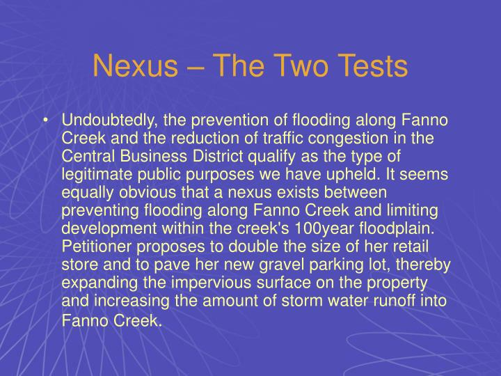 Nexus – The Two Tests