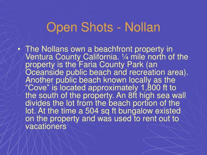 Open Shots - Nollan