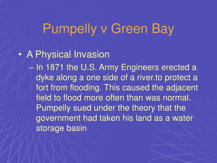 Pumpelly v Green Bay