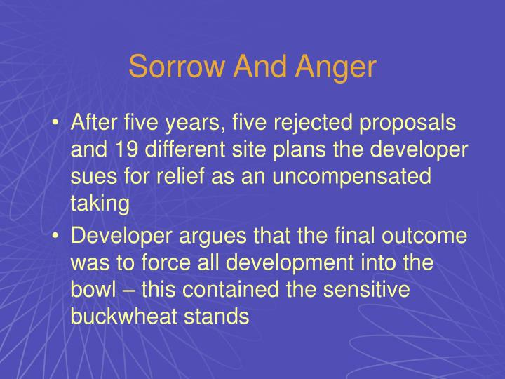 Sorrow And Anger