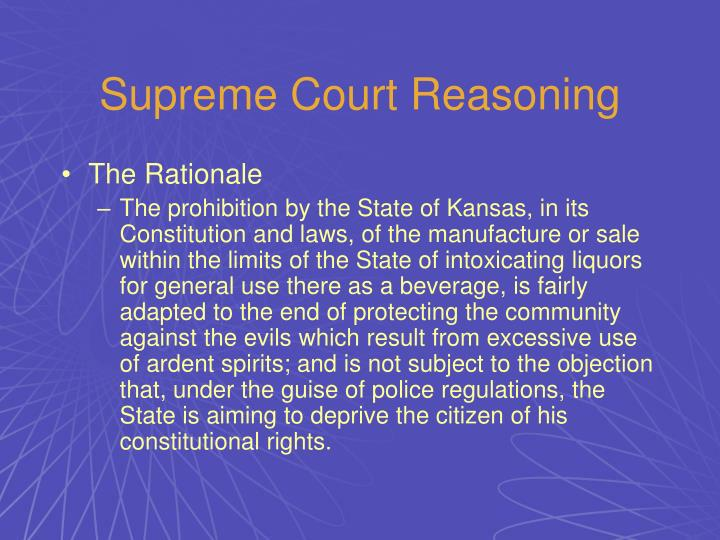 Supreme Court Reasoning