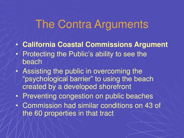 The Contra Arguments