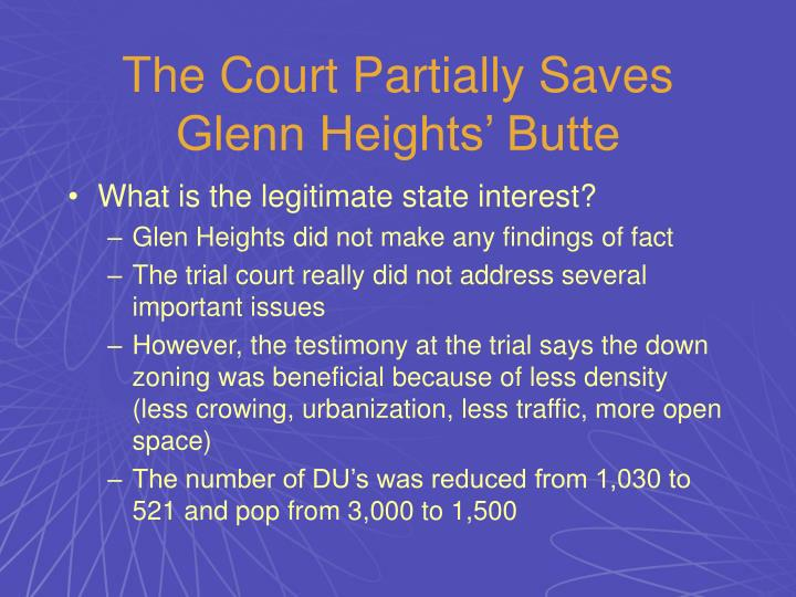 The Court Partially Saves Glenn Heights' Butte