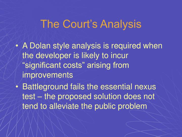 The Court's Analysis