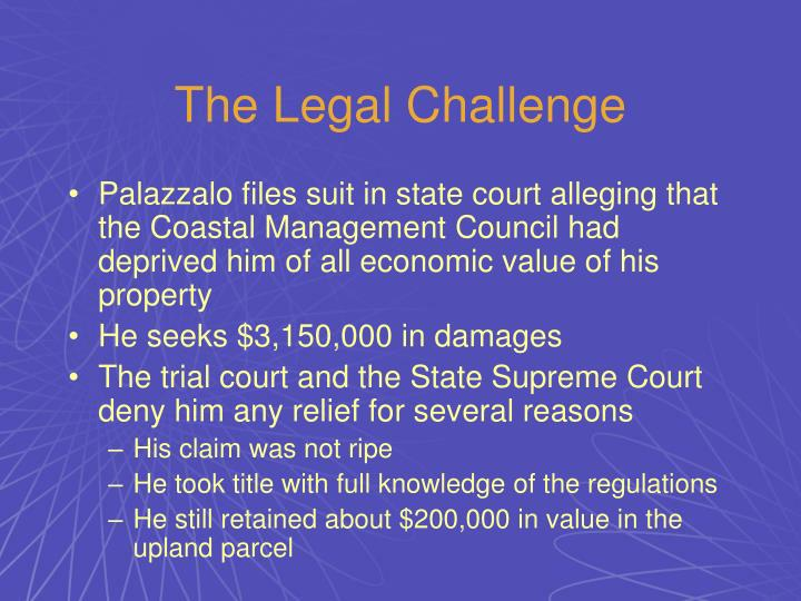 The Legal Challenge