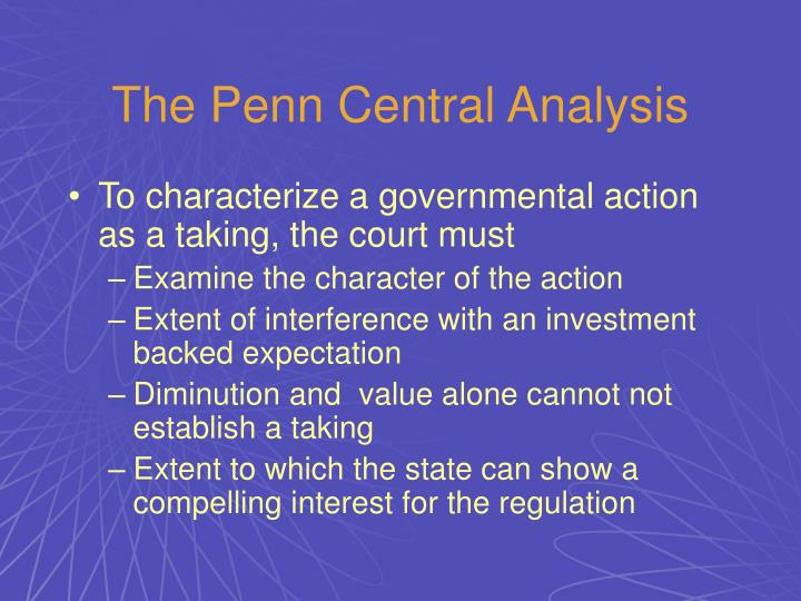 The Penn Central Analysis