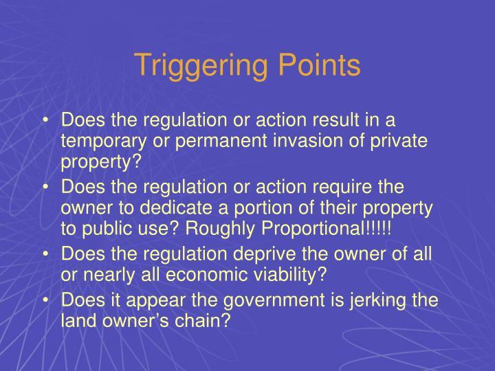 Triggering Points