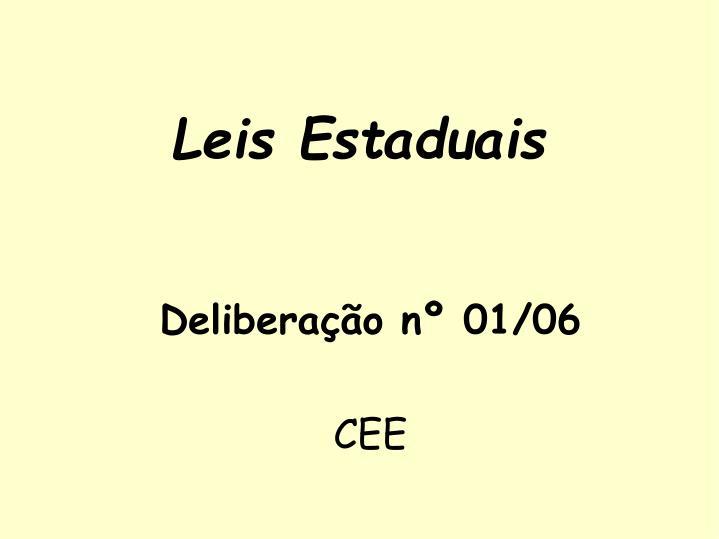 Deliberação nº 01/06