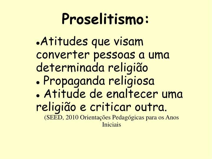 Proselitismo: