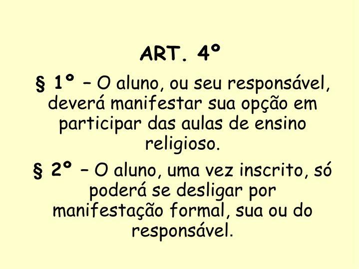 ART. 4º