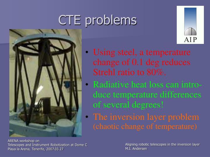 CTE problems