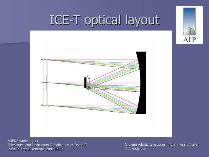 ICE-T optical layout