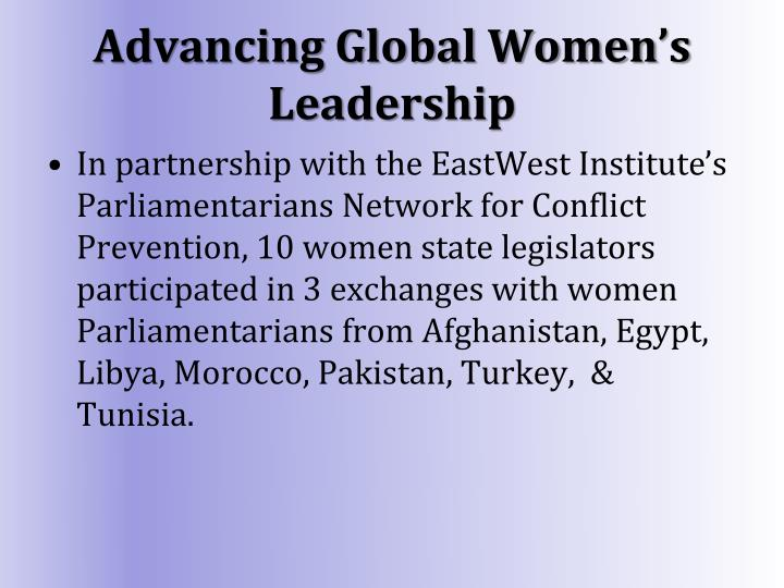 Advancing Global Women's Leadership