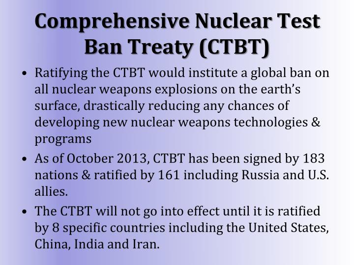 Comprehensive Nuclear Test Ban Treaty (CTBT)