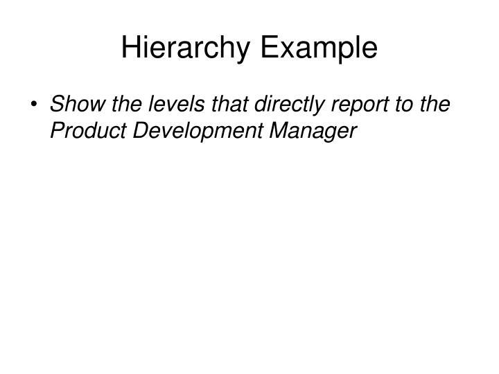Hierarchy Example
