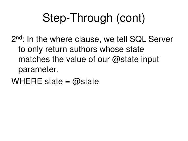 Step-Through (cont)
