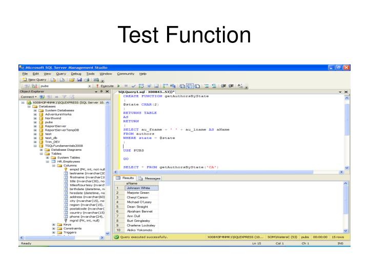 Test Function