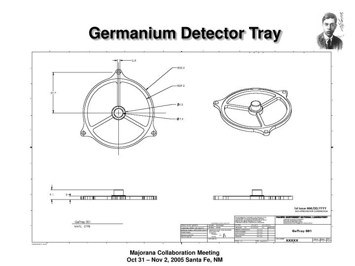 Germanium Detector Tray