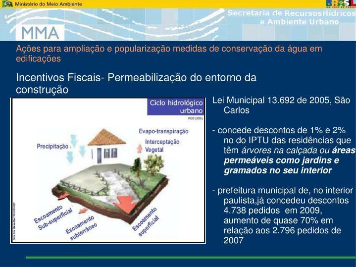 Ações para ampliação e popularização medidas de conservação da água em edificações